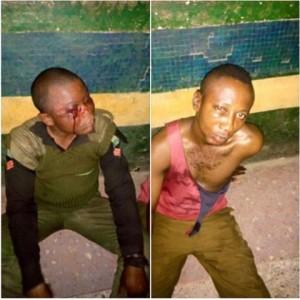 Two policemen escape death after suspects raise false alarm (Graphic Photo)
