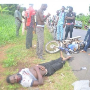 So Tragic: Hit-and-Run Driver Kills Okada Man in Ondo State (Photos)