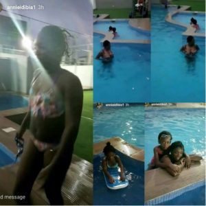 2Face's Wife Annie Idibia Bares Her Banging Body in Pool Photos