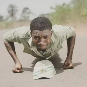 See the NYSC Corps Member Who is Set to Trek from Abia to Rivers State