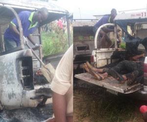 How Daredevil Militants Burnt OPC Member Alive, Killed Army Captain and 4 Policemen in Lagos (Photo)