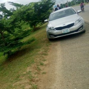 ! Unknown Man Found Dead in the Back Seat of a Car in Akwa Ibom (Photo)