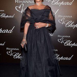 Rihanna Stuns In Black Ball Gown