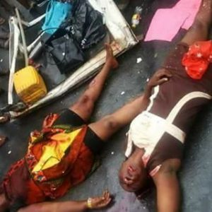 Tears! See the Four People Crushed to Death in a Fatal Road Accident Along Umuahia-Port Harcourt Express Way (Photos)