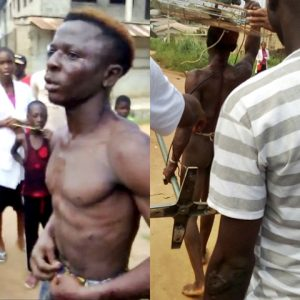 Thief Caught Stealing from Redeemed Church Caught and Paraded N*ked in Public (Photo/Video)