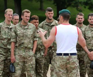 England stars put through military drills in Army Camouflage ahead of World Cup qualifier (Photos)