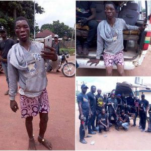 Photos: Father of two beaten to pulp after he was caught stealing Infinix handset in Delta state