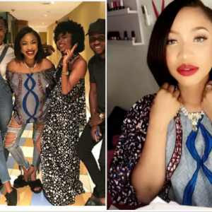Tonto Dikeh treats her online fanpage personalities to a dinner