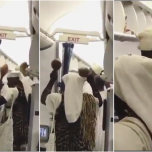 Viral Video: Watch what happened when Ooni of Ife boarded a plane to Canada (Photos)