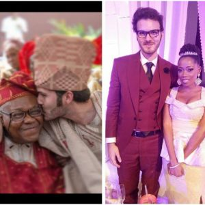 OAP Tosin Bucknor's French husband pens down a heartfelt tribute to her late dad