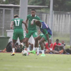 Photos of Super Eagles stars training in Uyo ahead of crucial Cameroon clash