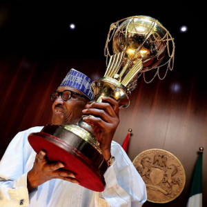 Buhari receives victorious D'Tigress, donates N1 million to each player (Photos)
