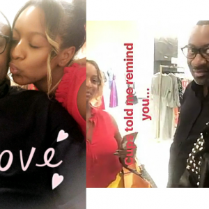 Dj Cuppy and Temi Otedola go shopping with their dad in NYC (Photos)