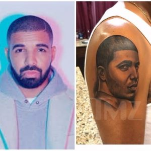 Drake's father inks monster tattoo of Drake's face on his arm (photos)