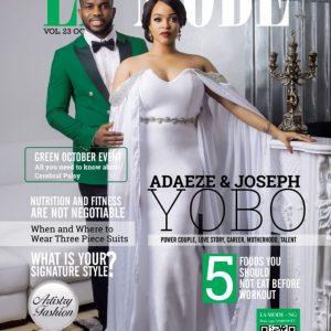 Chief  Adaeze Yobo and hubby, Chief Joseph Yobo cover La Mode Magazine