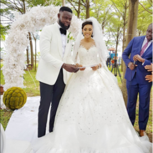 Photos from Yomi Casual's white wedding