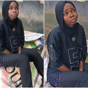 Young lady goes crazy after her NYSC, now sleeps at the back of Fela shrine