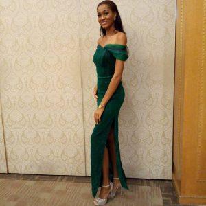 #MissWorld2017: Ugochi Ihezue's stunning look to the Charity Auction Ball in China