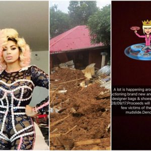 Dencia auctions wardrobe to raise money for Sierra-Leonine Mudslide Victims