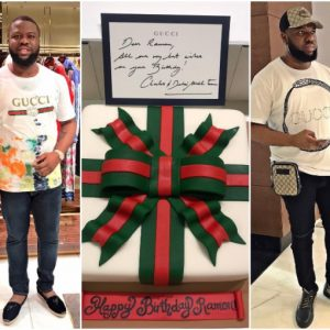Gucci gifts Hushpuppi a Gucci designed cake as he celebrates birthday today