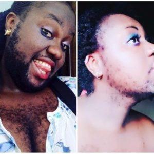 Photos: Nigeria's hairiest woman Queen Okafor shaves her beard