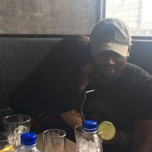 Rare loved up photos of Di'ja and her husband Rotimi as they get naughty at lunch date