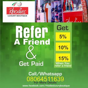 Refer a Friend & Shop For Free at Rhodies Luxury Boutique