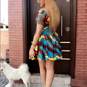Rosaline Meurer stuns in mini Ankara dress (Photos)