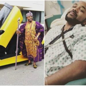 Oluwo of Iwoland offers prayers for Banky W's recovery