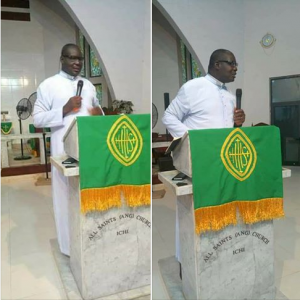 Anglican priest dies while preaching at a wedding in Anambra state (Photos)