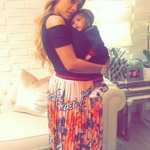 Freda Francis finally shows off her cute 3-month-old son's face (Photos)