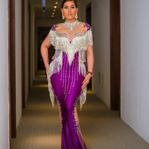 Checkout Caroline Danjuma's second outfit to Oritsefemi's wedding (Photos)