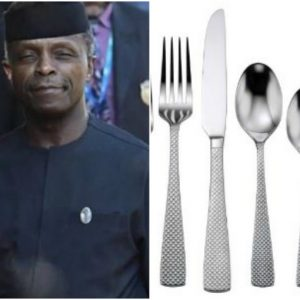 2018 budget: VP Osinbajo's kitchen to spend N17m on cutleries