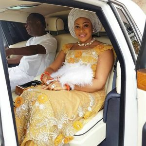 Ehi Ogbebor who just had a lavish wedding steps out in a Rolls Royce with her billionaire husband