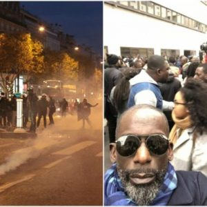Didier Drogba and hundreds protest against slave market (Photos/video)