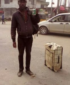 Nigerian Man Who Returned From London For Christmas Runs Mad, Seen Roaming The Streets Of Lagos