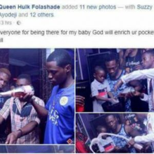 Photos : Lady Takes Her Son To Nightclub To Celebrate His Birthday In Ibadan
