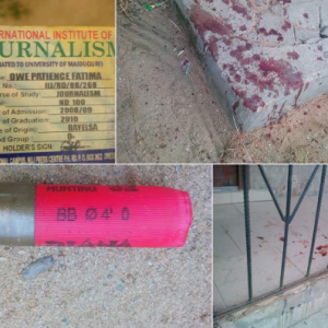 Gunman trails AIT staff returning from Shiloh in Bayelsa, shoots & robs her (Photos)