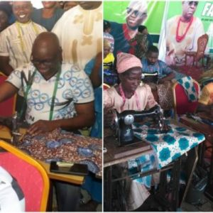 Governor Fayose employs 200 tailors to sew Christmas clothes for children (Photos)