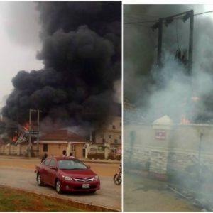 Newton hotel in Owerri razed by fire (photos)