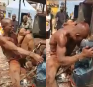 GRAPHIC Video -SARS Blow Up Testicles Of Alleged Kidnappers In Abia State