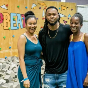 Lovely Photos Of Flavour, Anna Ebiere And Their Daughter On Christmas Day