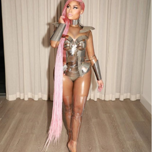 Photos :  Nicki Minaj Steps Out In Floor Length Braids