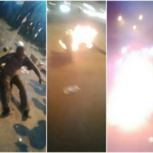 Kidnapper Refuses To Die After Being Beaten And Set Ablaze By Mob In Lagos