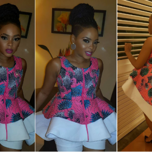 Photos : Chidinma Ekile Stuns In Ankara Dress