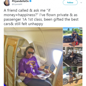 Photos : Successful South African Lady Explains Why Money Cant Buy Happiness