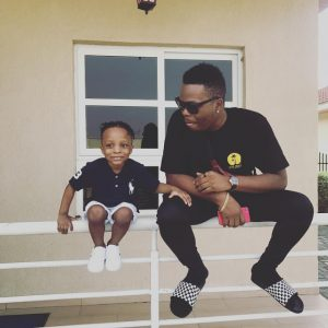 Cute Photo Of Olamide And Son