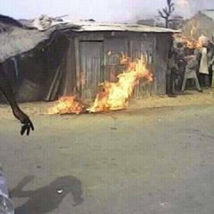 Suspected Motorcycle Thief Burnt To Death In Kebbi (graphic photos)