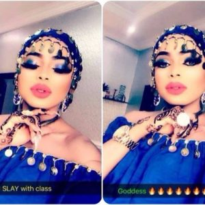 Photos : I Slay With Class – Bobrisky As He Shares Photos Indian attire