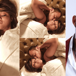 Ramsey Nouah And Damilola Adegbite Pictured In Bed On Movie Set